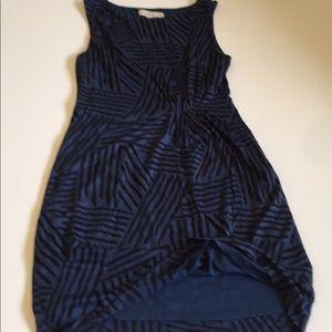 """Loft"" Beautiful""Blue And Black Stripe Sexy Dress"